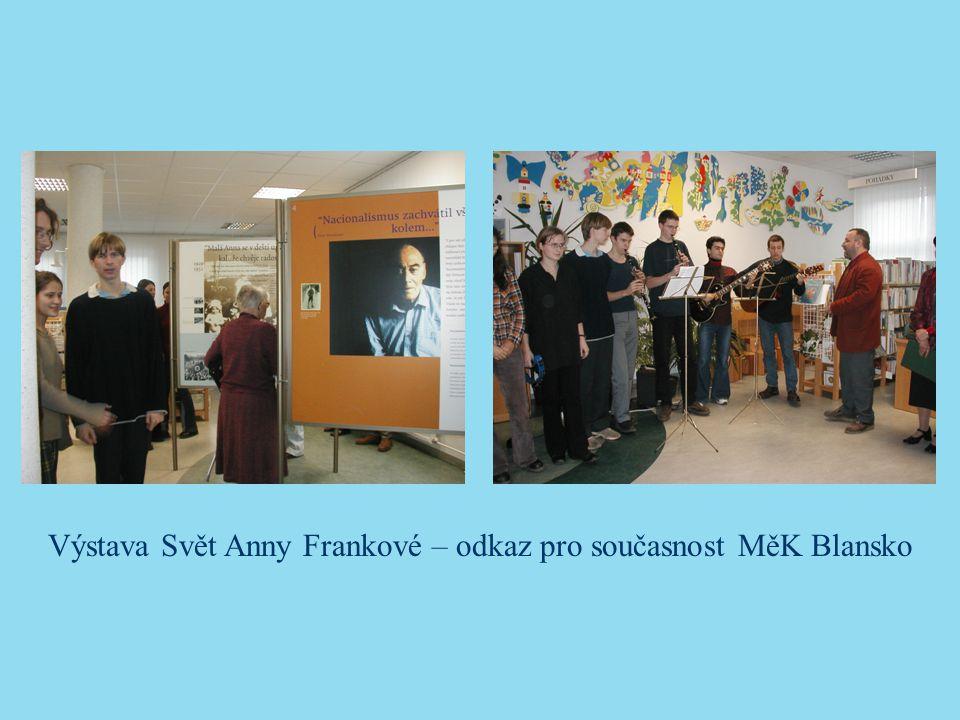Výstava Svět Anny Frankové – odkaz pro současnost MěK Blansko