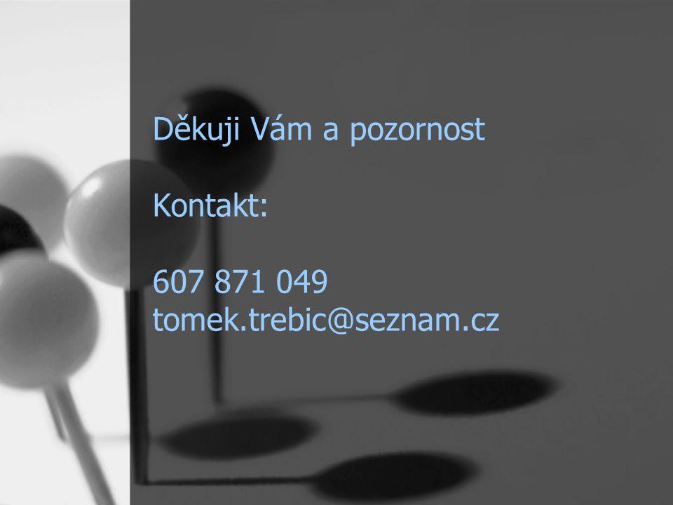 Děkuji Vám a pozornost Kontakt: 607 871 049 tomek.trebic@seznam.cz