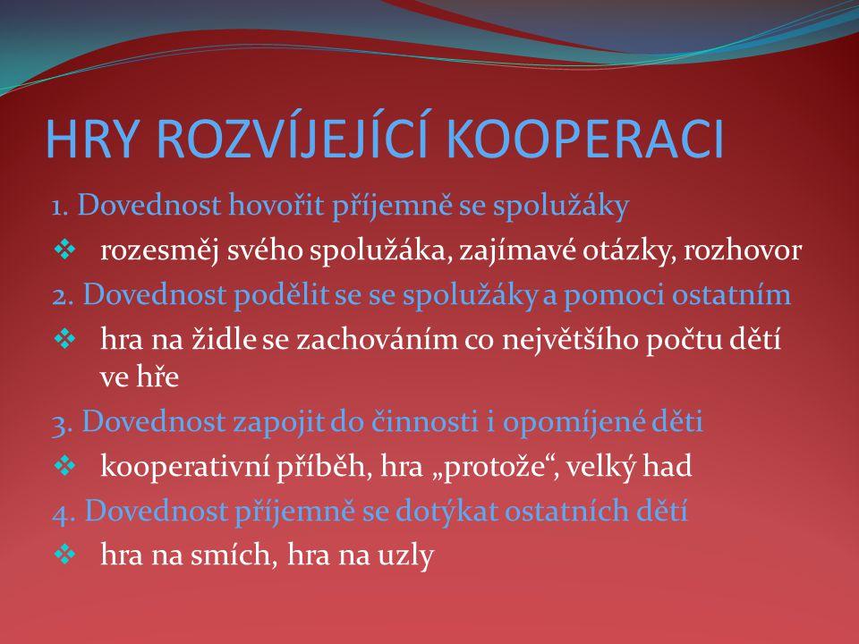 HRY ROZVÍJEJÍCÍ KOOPERACI 1.
