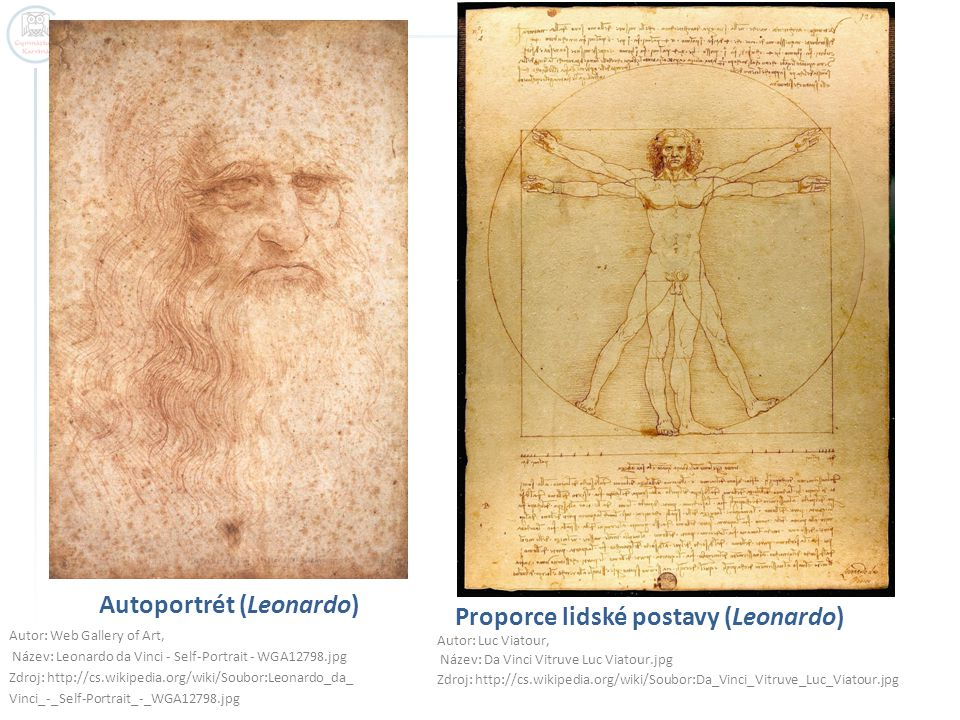Autoportrét (Leonardo) Autor: Web Gallery of Art, Název: Leonardo da Vinci - Self-Portrait - WGA12798.jpg Zdroj: http://cs.wikipedia.org/wiki/Soubor:L