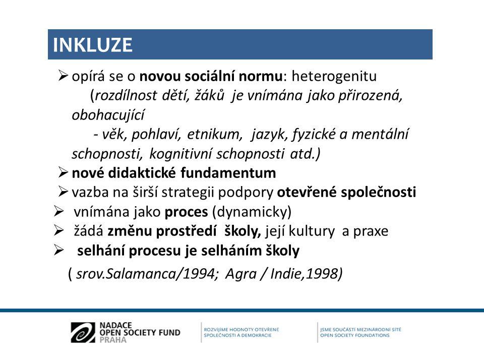 """UČÍME SE A ROSTEME VŠICHNI SPOLEČNĚ LISABONSKÁ DEKLARACE """"… vidíme mnoho předností inkluzivní edukace – získáváme víc sociálních kompetencí, máme širší zkušenostní spektrum, učíme se prosadit v normálním světe, nutí nás najít si přátele s postižením i bez postižení a integrovat se s nimi. (Lisabon, 2007) Lisbon Declaration Young People´s views on Inclusive education"""