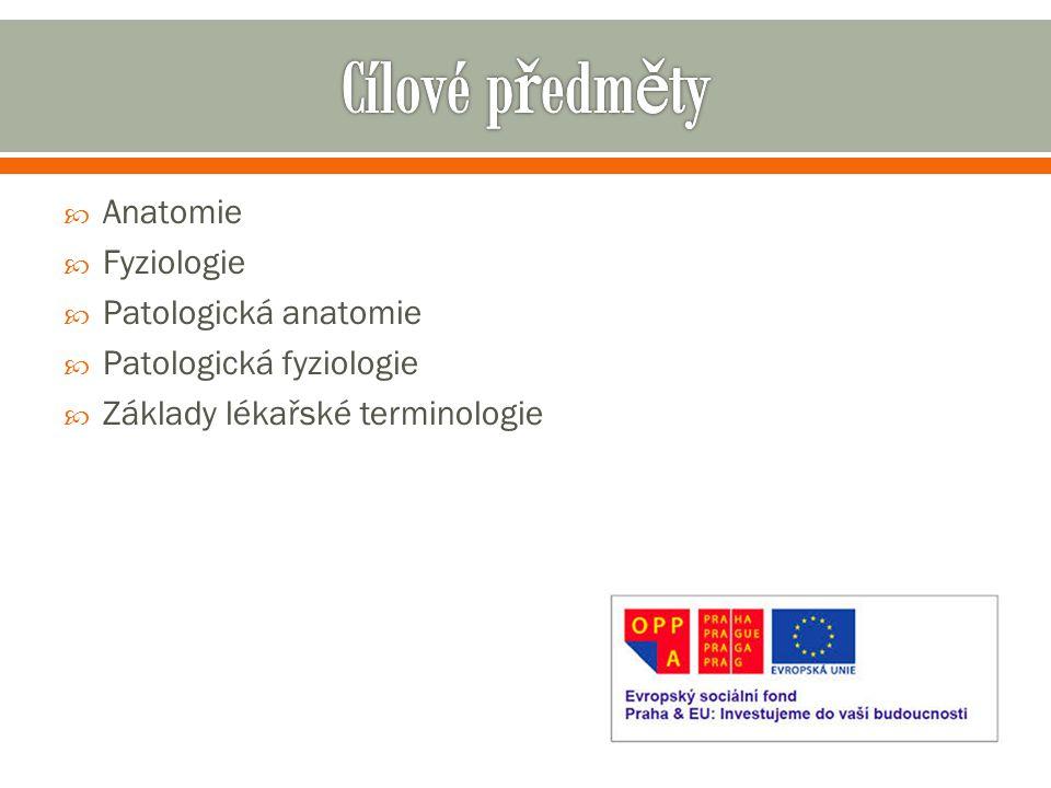  Anatomie  Fyziologie  Patologická anatomie  Patologická fyziologie  Základy lékařské terminologie