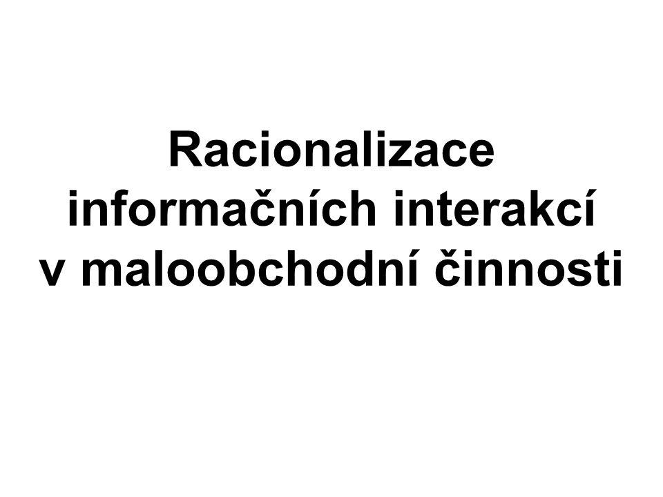Racionalizace informačních interakcí v maloobchodní činnosti
