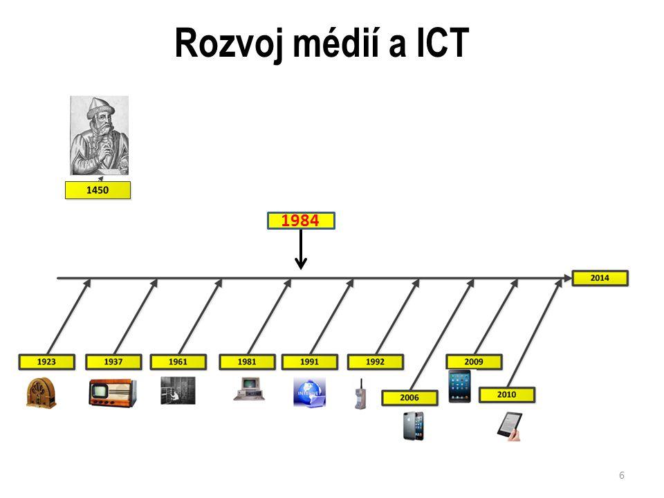 Rozvoj médií a ICT 1984 6