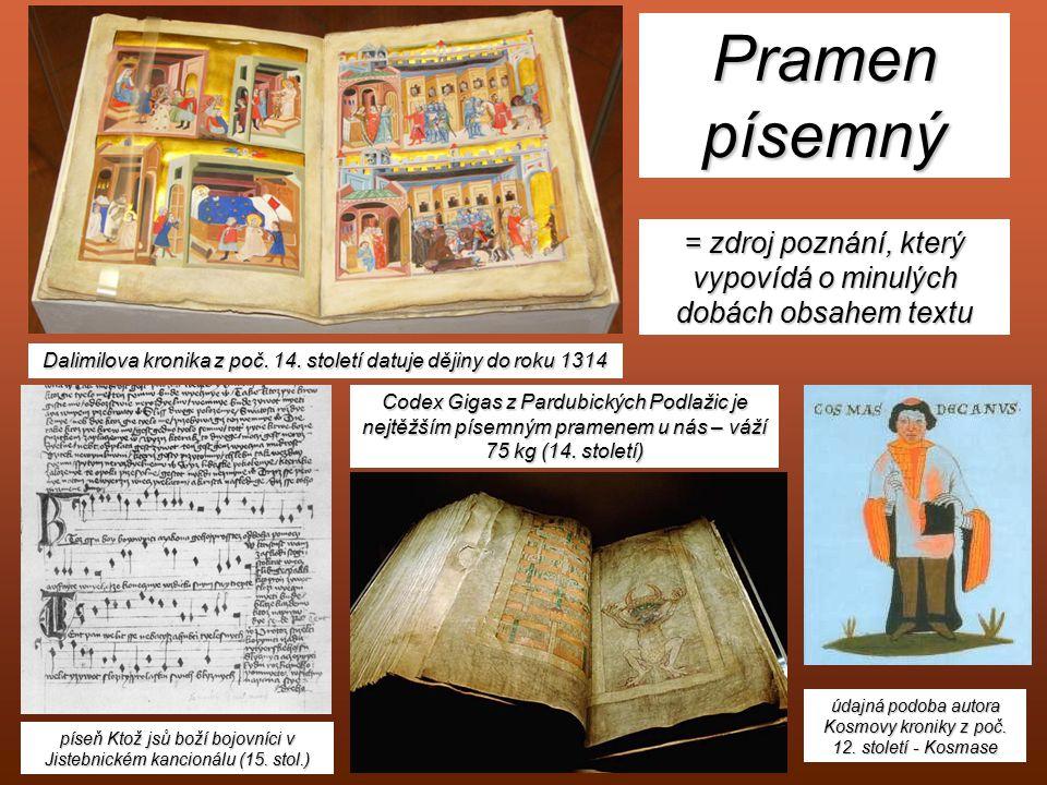 Dalimilova kronika z poč. 14. století datuje dějiny do roku 1314 píseň Ktož jsů boží bojovníci v Jistebnickém kancionálu (15. stol.) Codex Gigas z Par