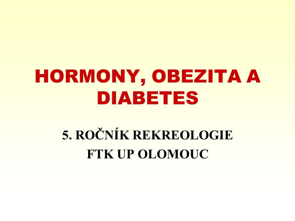 HORMONY, OBEZITA A DIABETES 5. ROČNÍK REKREOLOGIE FTK UP OLOMOUC