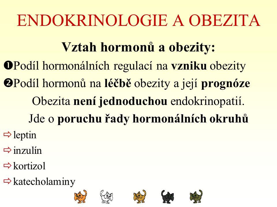 ENDOKRINOLOGIE A OBEZITA Vztah hormonů a obezity:  Podíl hormonálních regulací na vzniku obezity  Podíl hormonů na léčbě obezity a její prognóze Obe