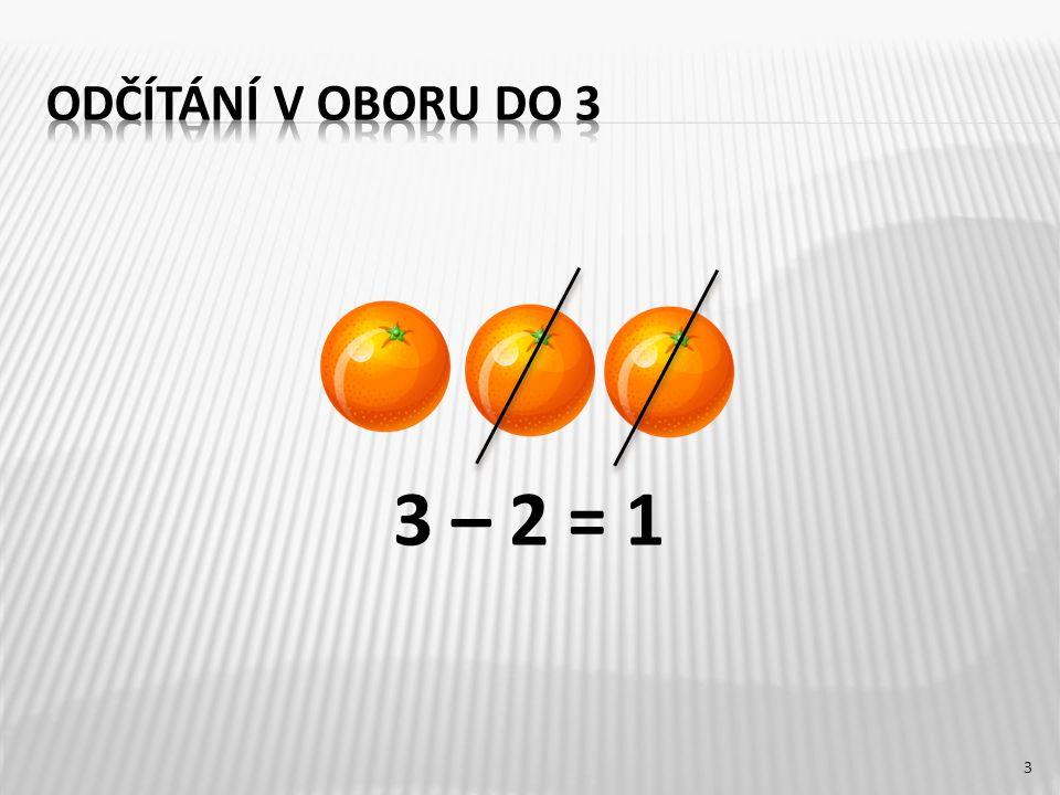 3 – 2 = 1 3
