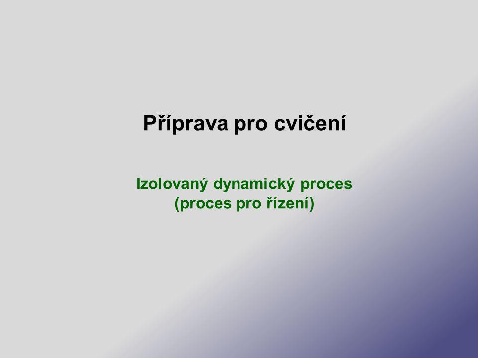Příprava pro cvičení Izolovaný dynamický proces (proces pro řízení)