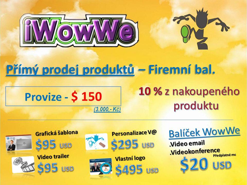 Přímý prodej produktů - balíček Premium ($ 195 ) Přímý prodej produktů - balíček Premium ($ 195 ) Provize - $ 50 (1000,- Kč)