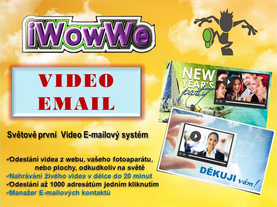 WowWe nabízí: 1. Video – E-mailing 2. Video – konference – prezentace 3.