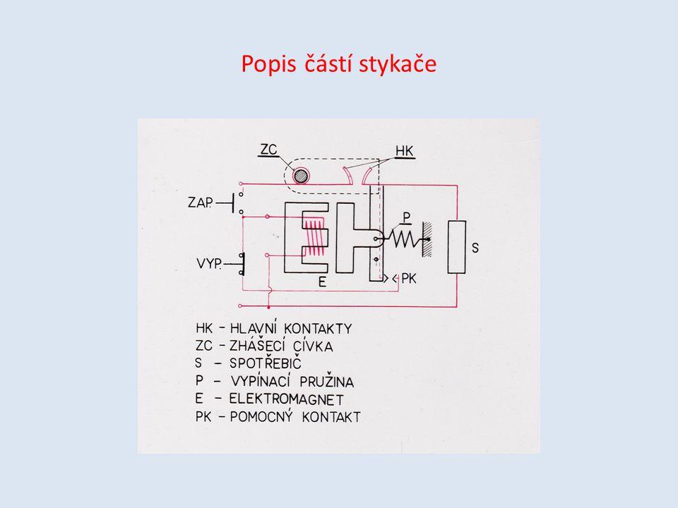 Popis částí stykače