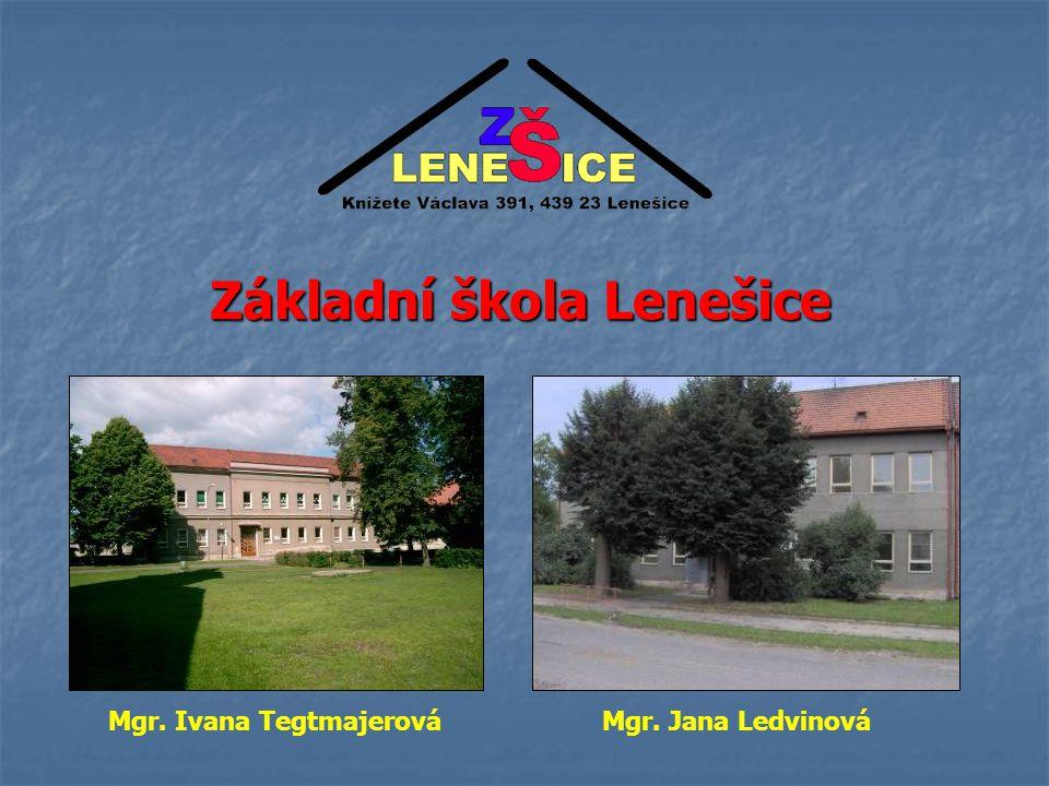 Základní škola Lenešice Mgr. Ivana Tegtmajerová Mgr. Jana Ledvinová