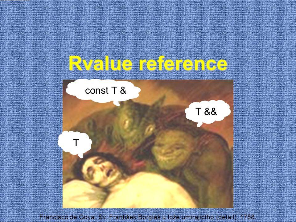 Rvalue reference Francisco de Goya. Sv. František Borgiáš u lože umírajícího (detail). 1788. const T & T && T
