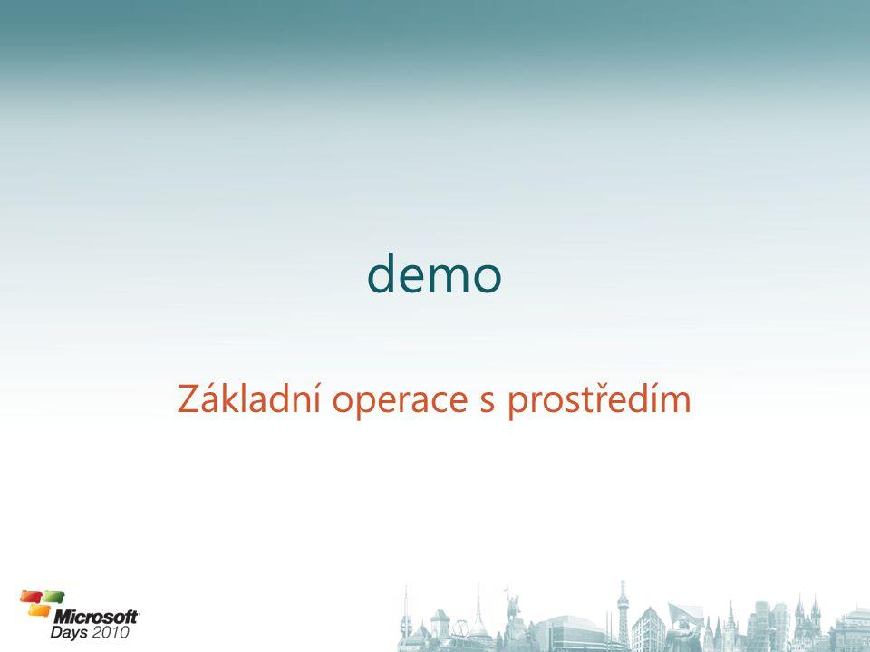 demo Základní operace s prostředím