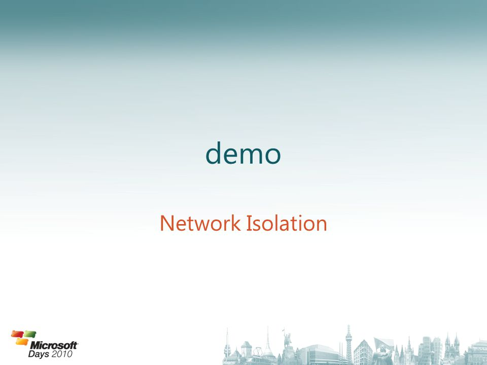 demo Network Isolation