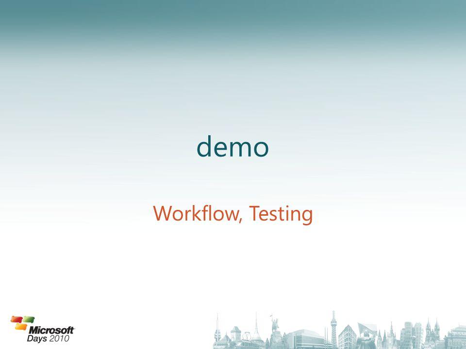 demo Workflow, Testing