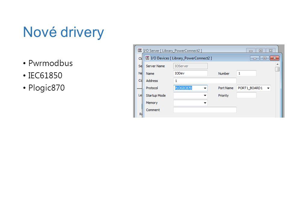 Pwrmodbus IEC61850 Plogic870 Nové drivery
