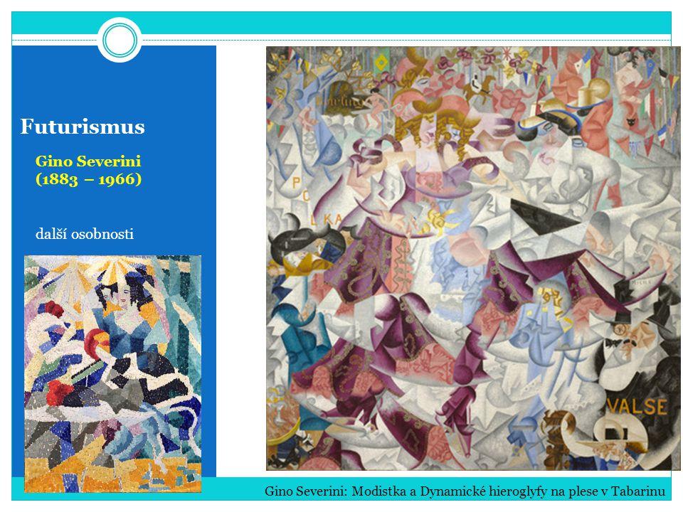 Futurismus Gino Severini (1883 – 1966) další osobnosti Gino Severini: Modistka a Dynamické hieroglyfy na plese v Tabarinu