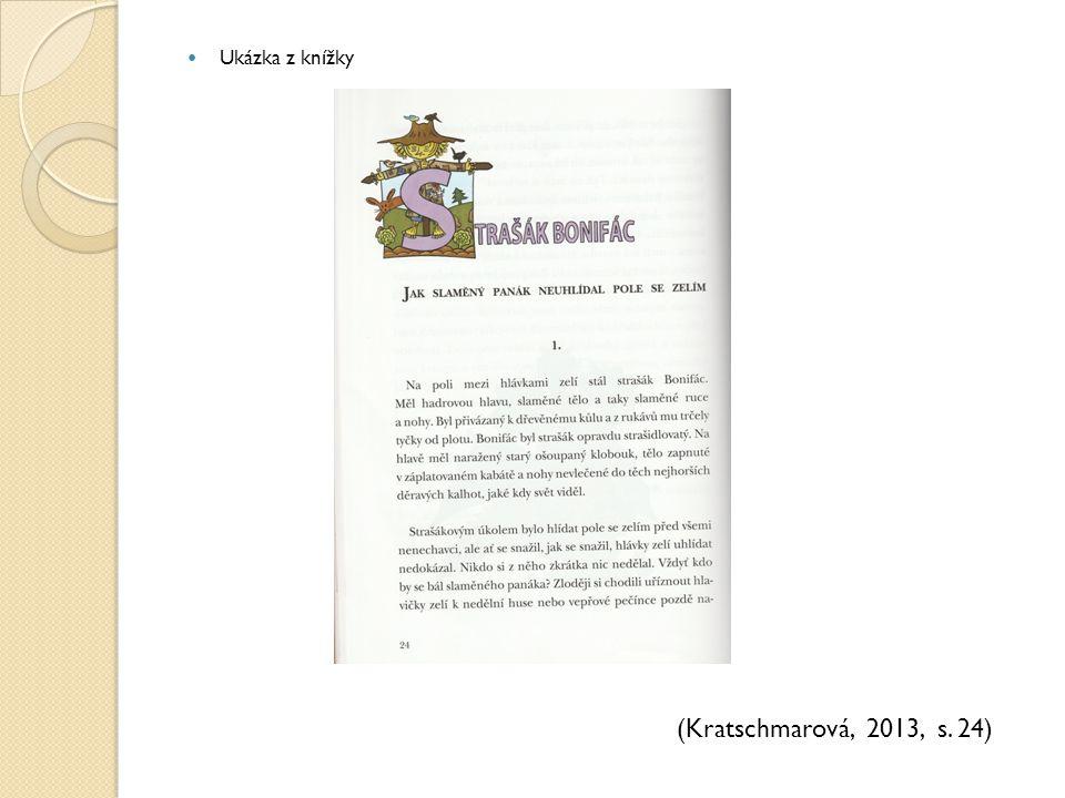 Ukázka z knížky (Kratschmarová, 2013, s. 24)