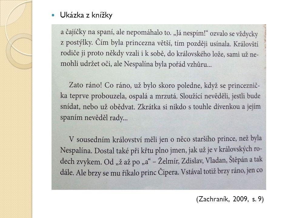 Ukázka z knížky (Zachraník, 2009, s. 9)