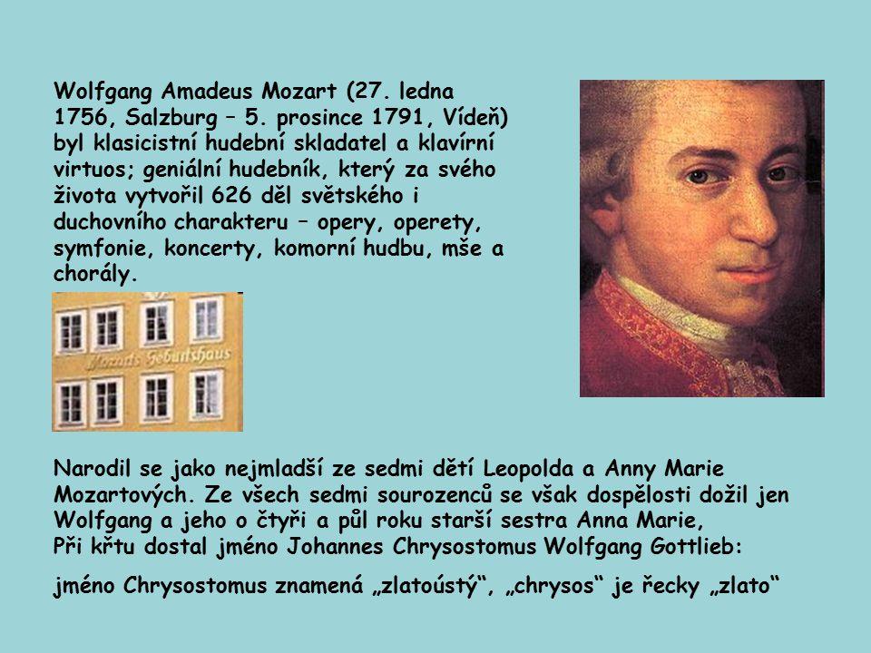 Dům ve kterém se narodil a prvních sedmnáct let života strávil Wolfgang Amadeus Mozart patří dnes k nejzajímavějším místům v Salzburgu. Místo bylo pře