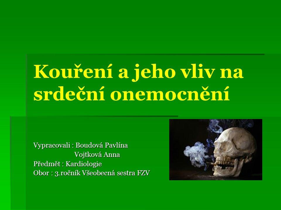 Historie kouření Historie kouření  I když se tabák kouřil odedávna, nikdy se nekouřil tak masivně jako nyní  Změna přišla v roce 1880 s vynálezem strojů na cigarety  20.století se stalo začátkem tabákové pandemie  V tomto století podlehlo tabáku více lidí než v oběma světovým válkám – 100 mil.