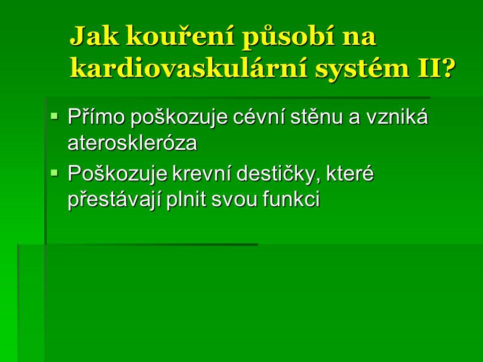 Jak kouření působí na kardiovaskulární systém II.Jak kouření působí na kardiovaskulární systém II.