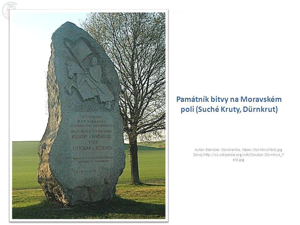 Památník bitvy na Moravském poli (Suché Kruty, Dürnkrut) Autor:Stanislav Doronenko, Název:Dürnkrut feld.jpg Zdroj:http://cs.wikipedia.org/wiki/Soubor: