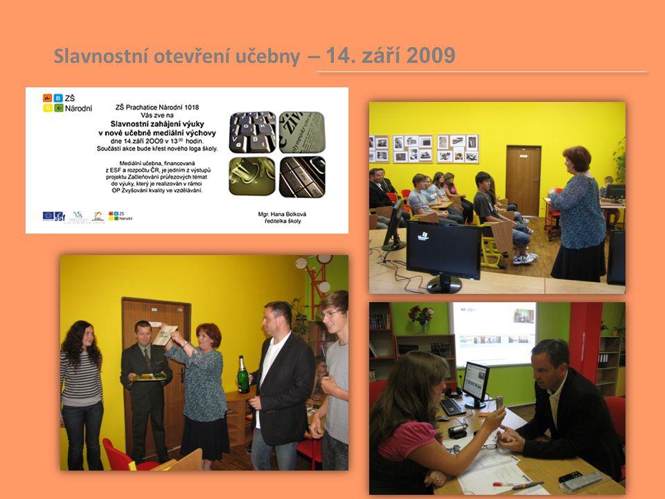 Slavnostní otevření učebny – 14. září 2009