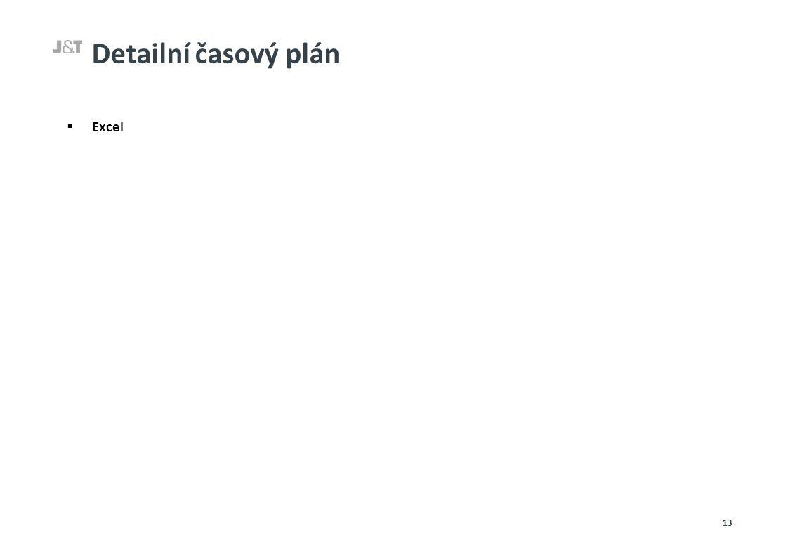Detailní časový plán  Excel 13