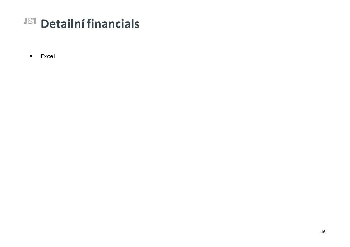 Detailní financials  Excel 16