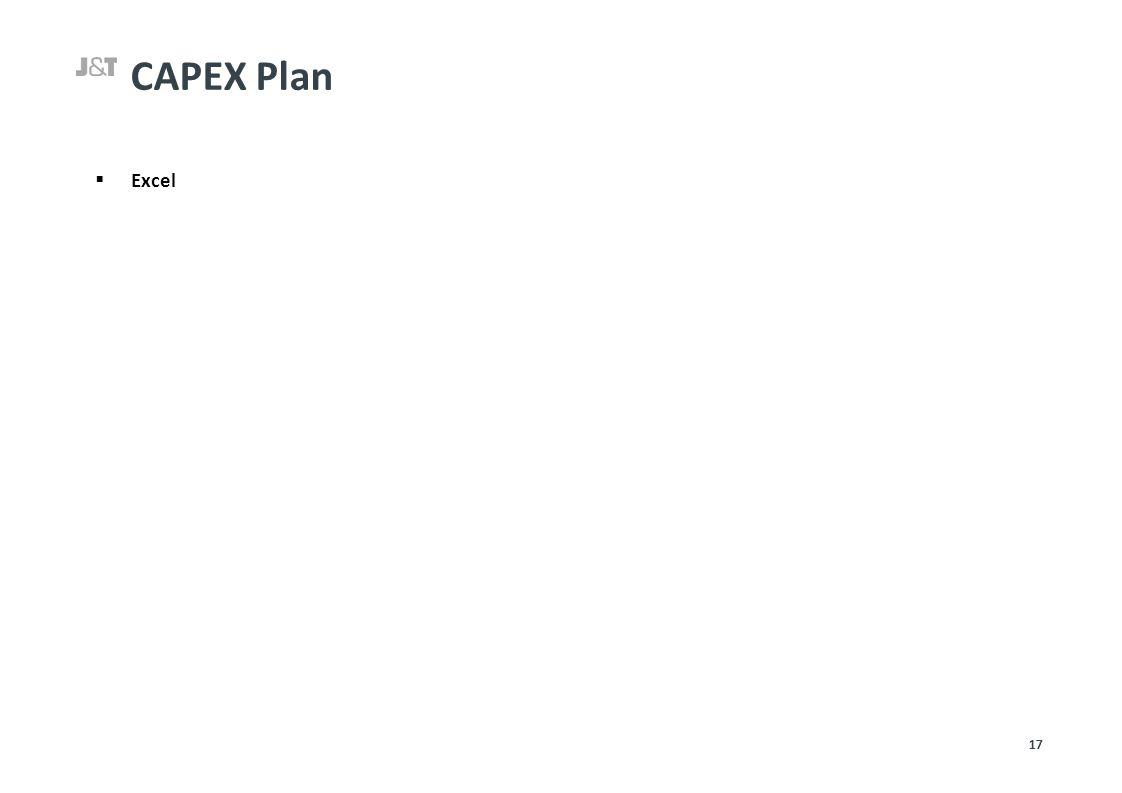 CAPEX Plan  Excel 17