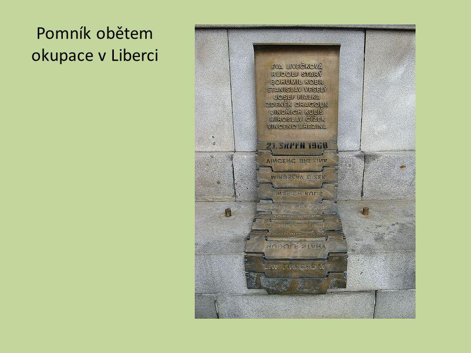 Pomník obětem okupace v Liberci