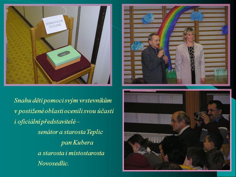 Nejmenší novosedlické občánky reprezentovali školka a první třída.