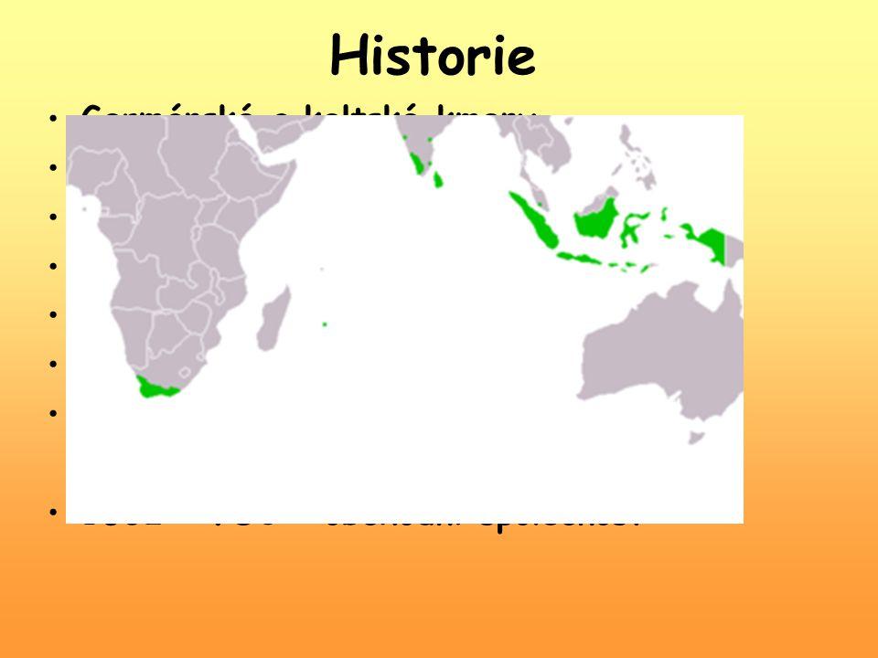 Historie Germánské a keltské kmeny 10.st. – rozdrobení na knížectví 1477 – Habsburkové 16.-17. st. – náboženské nepokoje 1562-1648 – Osmdesátiletá vál
