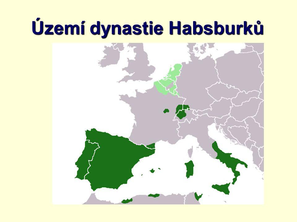 Území dynastie Habsburků