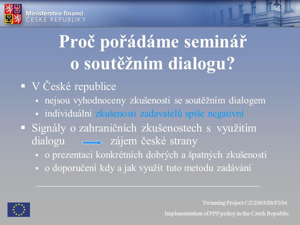 Proč pořádáme seminář o soutěžním dialogu.