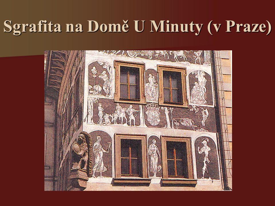 Sgrafita na Domě U Minuty (v Praze)