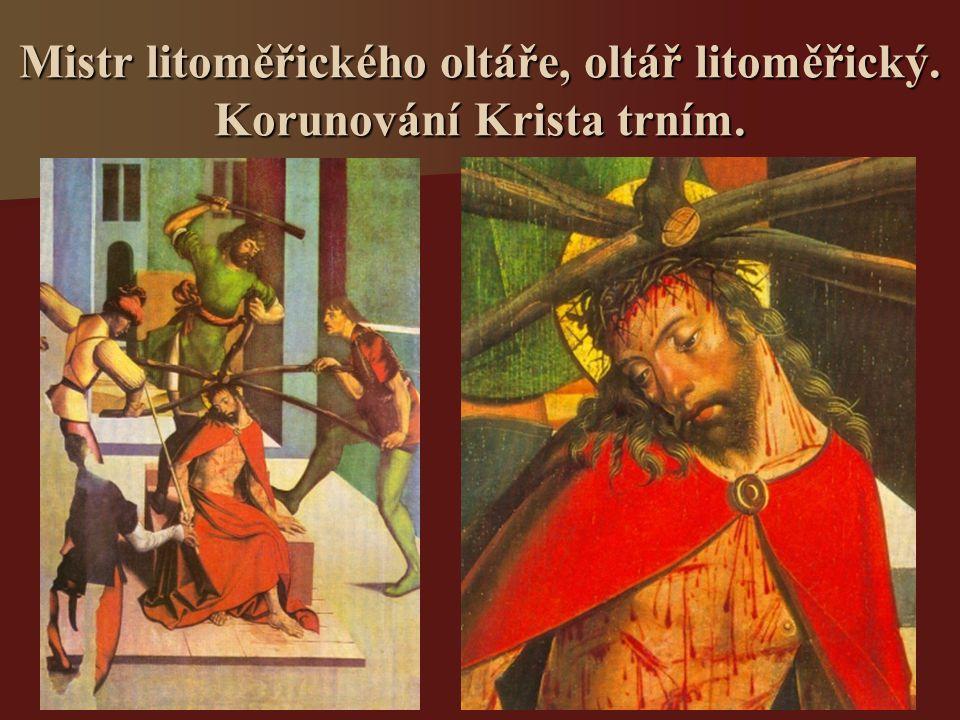 Mistr litoměřického oltáře, oltář litoměřický. Korunování Krista trním.