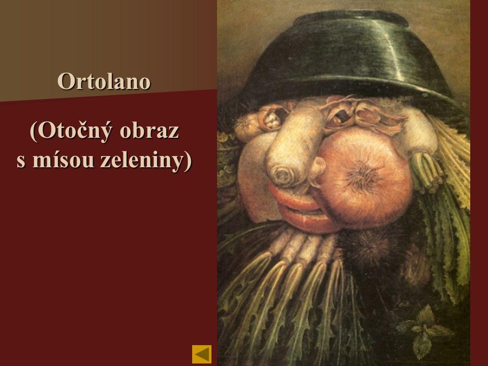 Ortolano (Otočný obraz s mísou zeleniny)