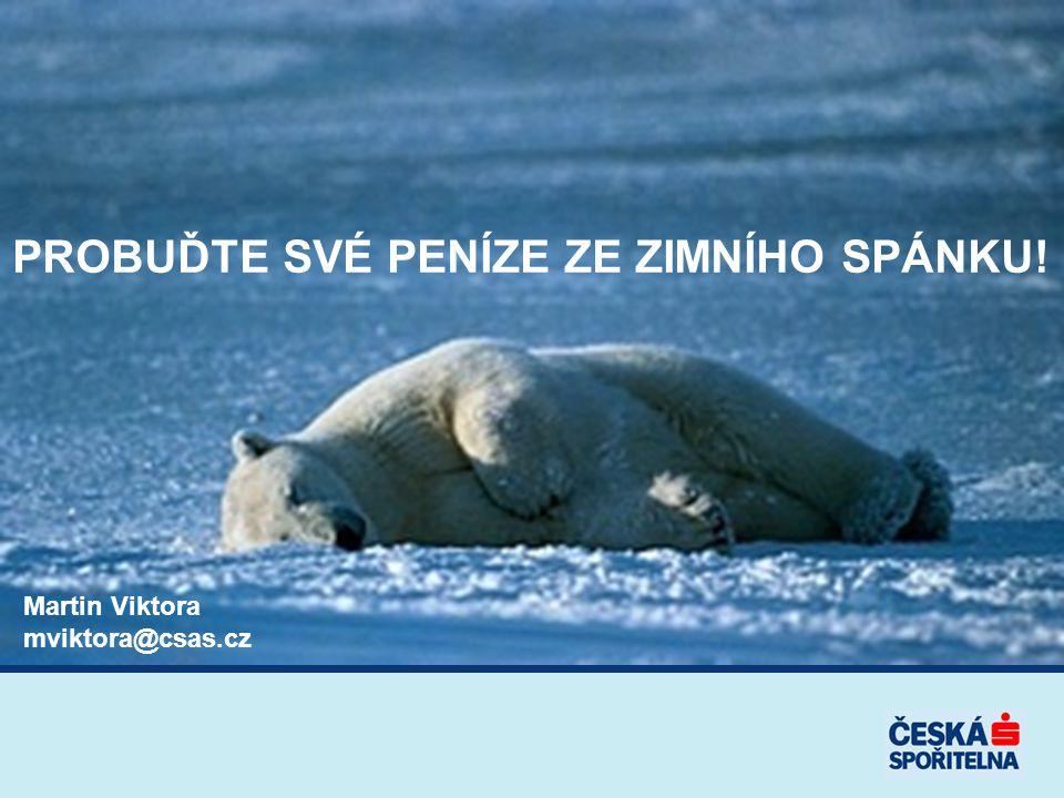 PROBUĎTE SVÉ PENÍZE ZE ZIMNÍHO SPÁNKU! Martin Viktora mviktora@csas.cz