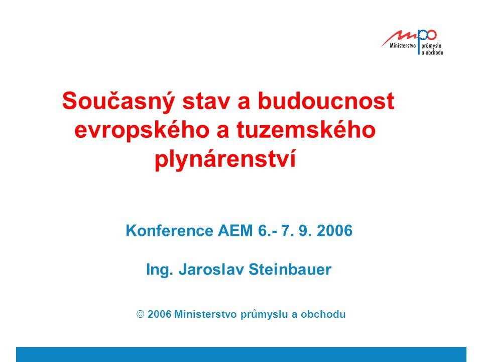 Současný stav a budoucnost evropského a tuzemského plynárenství Konference AEM 6.- 7.