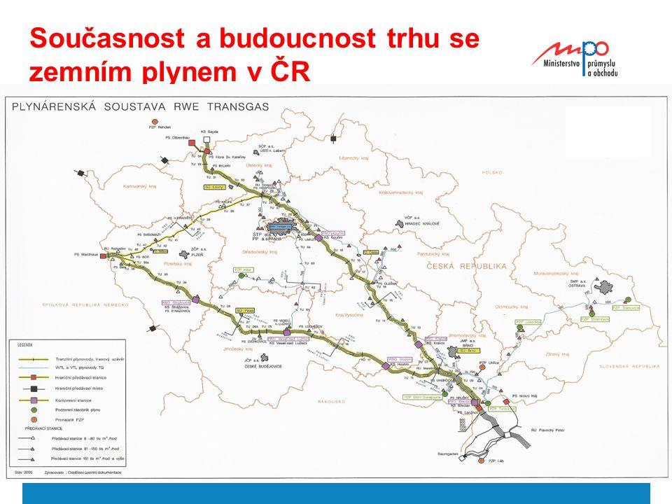  2004  Ministerstvo průmyslu a obchodu 23 Současnost a budoucnost trhu se zemním plynem v ČR
