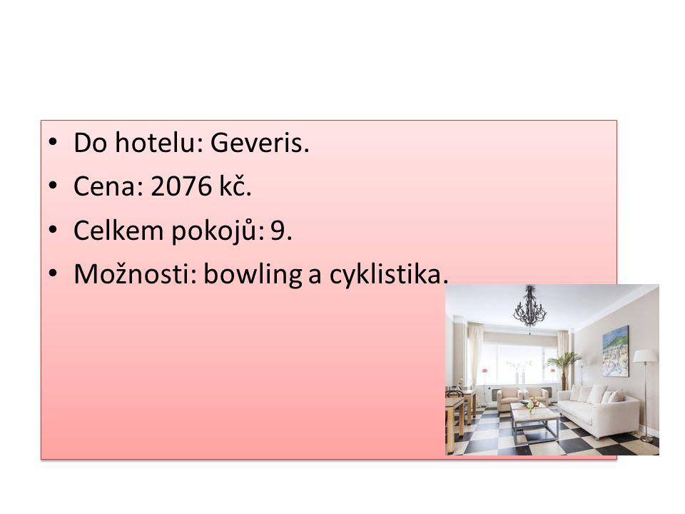 Kam na výlet Do hotelu: Delta. Cena: 2069 Kč. Celkem pokojů: 8.