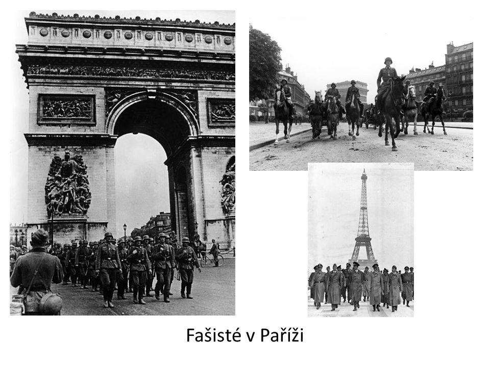 Část francouzských vojáků v čele s generálem de Gaullem se s porážkou nesmířilo a odešli do exilu ve VB.