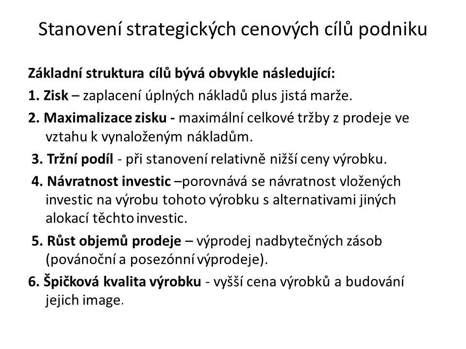 Mezinárodní cenové strategie 1.nákladové metody 2.strategie cenového zužitkování – klouzání po poptávkové křivce 3.strategie prémiové ceny - skimming 4.strategie cenového pronikání na trh - penetrace 5.strategie využívání transferových cen