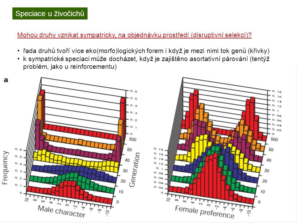 Rozdíly v radiaci a diverzitě různých taxonů klíčové evoluční novinky – určitě existují, ale špatně se dokládají druhový výběr – může vést k převaze určitého znaku nezávisle na přirozeném (darwinovském) výběru