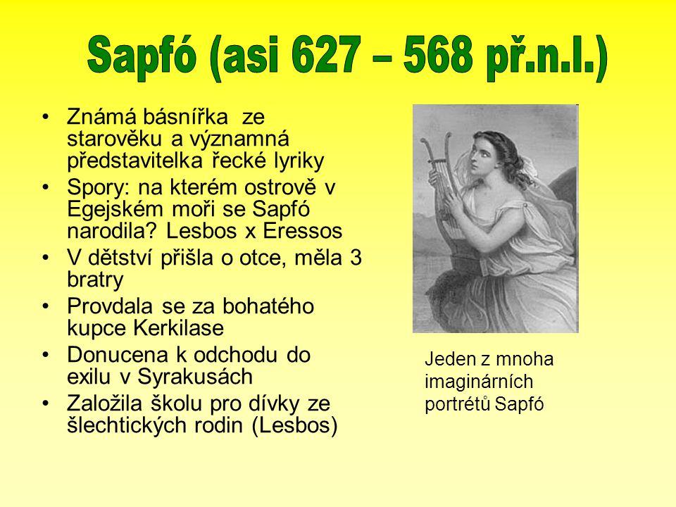 Známá básnířka ze starověku a významná představitelka řecké lyriky Spory: na kterém ostrově v Egejském moři se Sapfó narodila.