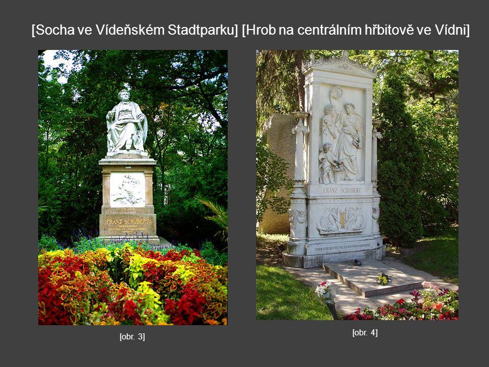 [Hrob na centrálním hřbitově ve Vídni][Socha ve Vídeňském Stadtparku] [obr. 3] [obr. 4]